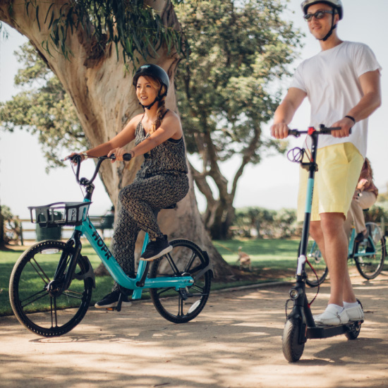 Since 2011, CycleHop has provided millions of people with access to flexible, fun, and healthy transportation options. We design, build, and operate micro-mobility solutions for cities, towns, campuses, and hospitality.